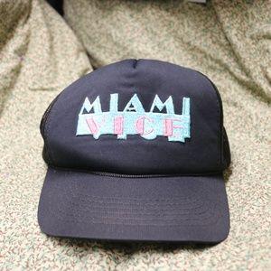 Rad Vintage 80s Miami Vice Black Hat OS